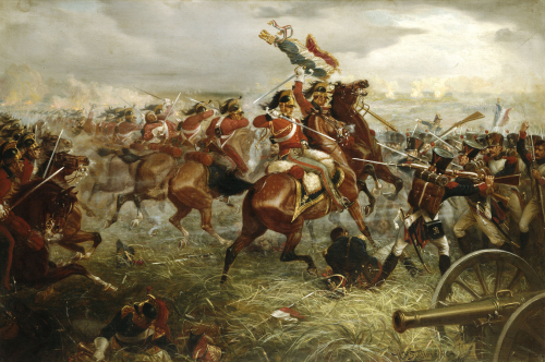 Capture Of The Eagle, Waterloo, 1898 by William Holmes Sullivan