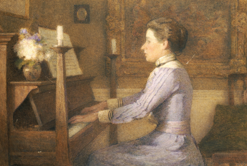 At The Piano by H.E. Jones