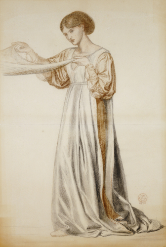 Study For A Pall Bearer In Dante's Dream, 1873 by Dante Gabriel Rossetti