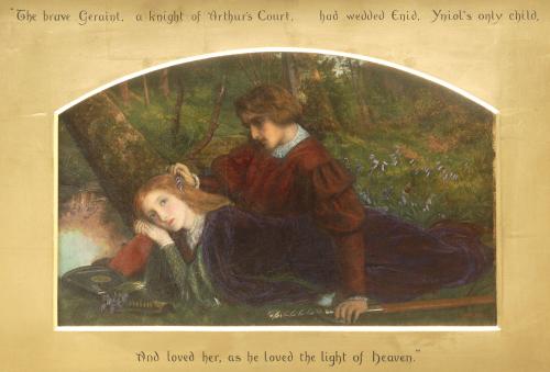 Enid And Geraint by Arthur Hughes