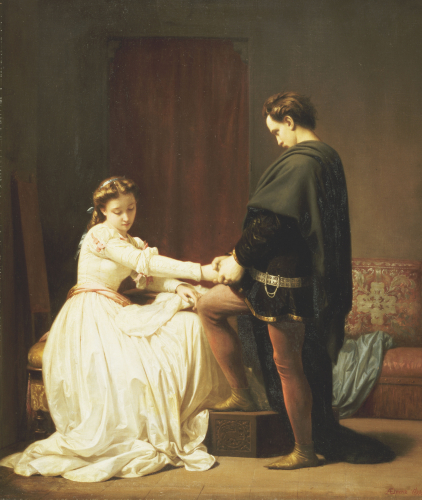The Proposal, 1860 by Alfred W. Elmore