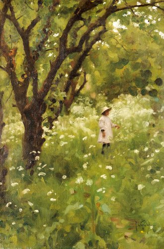 The Orchard by Thomas Cooper Gotch