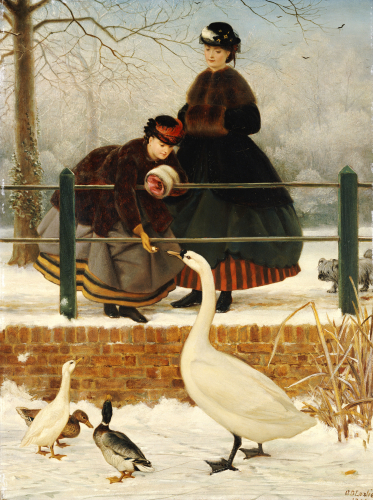 Frozen Out, 1866 by George Dunlop Leslie