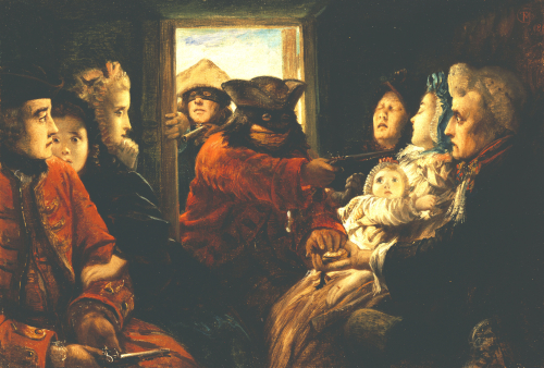 Travelling Past 1760, 'Your Money Or Your Life', 1861 by Thomas Musgrove Joy