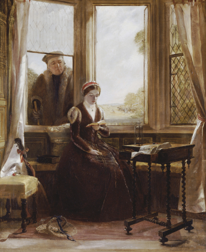 Lady Jane Grey And Roger Alscham, 1853 by John Callcott Horsley