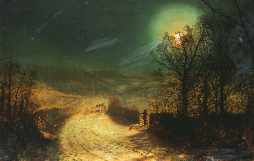 Near Bolton Abbey,1876 by John Atkinson Grimshaw