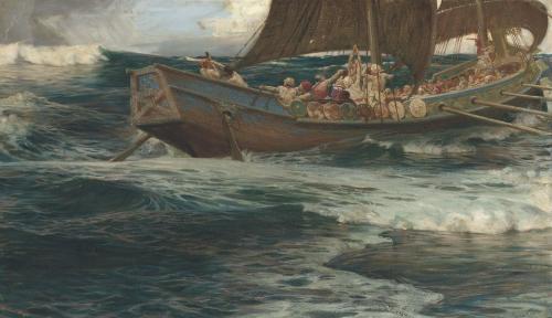 Wrath Of The Sea God by Herbert James Draper