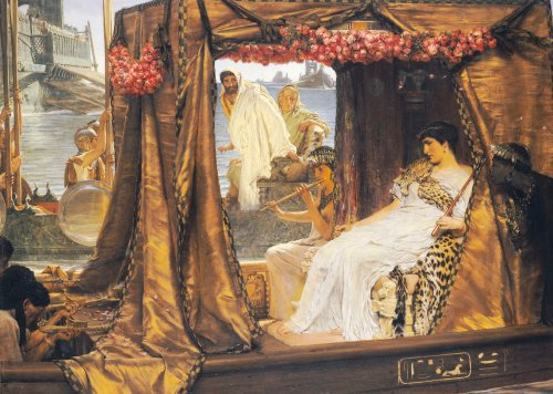 The Meeting Of Anthony And Cleopatra by Sir Lawrence Alma-Tadema