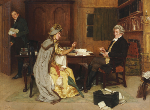 Her Lawyer, 1892 by Frank Dadd