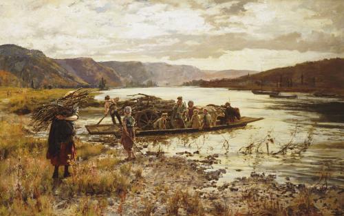 Crossing The Lake by John Henry Yeend King