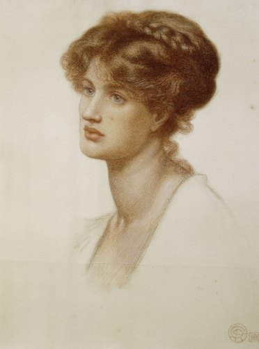 Portrait Of Mrs. William J. Stillman, Nee Marie Spartali, 1869 by Dante Gabriel Rossetti