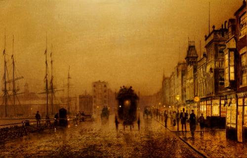 Glasgow Docks by John Atkinson Grimshaw