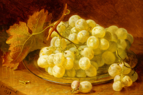 Grapes On A Silver Plate, 1893 by Eloise Harriet Stannard