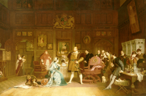 Henry VIII And Anne Boleyn Observed By Queen Katherine, 1870 by Marcus Stone