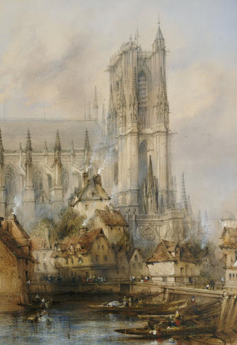 Amiens Cathedral by Thomas Colman Dibdin