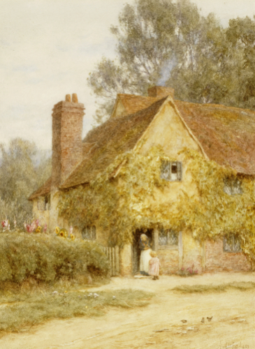 A Cottage At Denham, Buckinghamshire by Helen Allingham