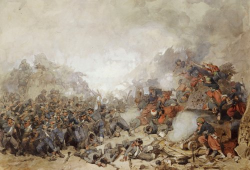 Storming Of Malakoff by Charles Samuel Keene