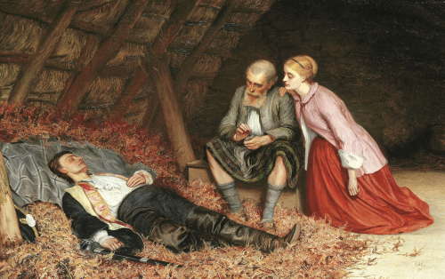 A Scottish Vigil, 1871 by Charles Sillem Lidderdale