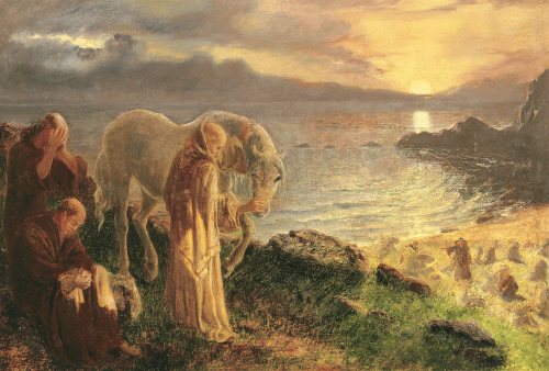 St Columba's Farewell To The White Horse by Alice Boyd
