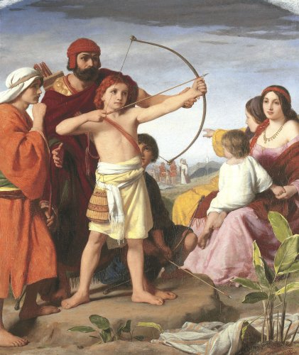 David Teach The Children Of Judah The Use Of The Bow, 1859 by William Charles Thomas Dobson