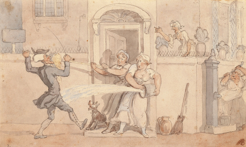 Dr Syntax Obtruding by Thomas Rowlandson