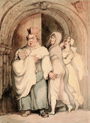 The Devotees by Thomas Rowlandson