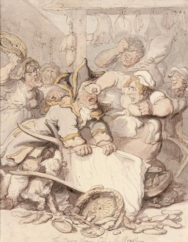 The Barrow Women Basting The Beadle by Thomas Rowlandson