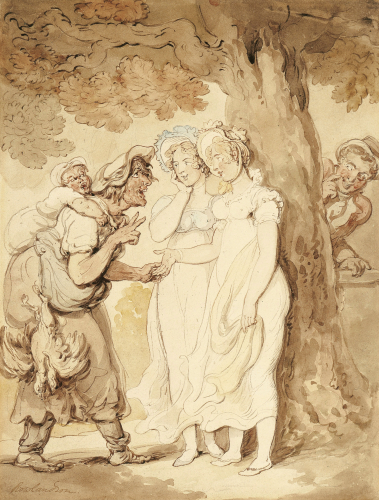 The Fortune Teller by Thomas Rowlandson