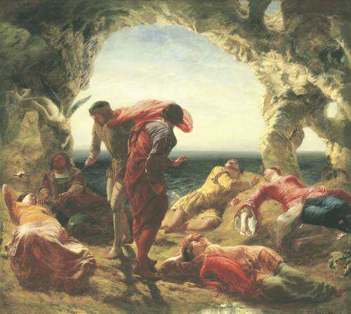 The Conspiracy Of Sebastian And Antonio, 1856 by Paul Falconer Poole