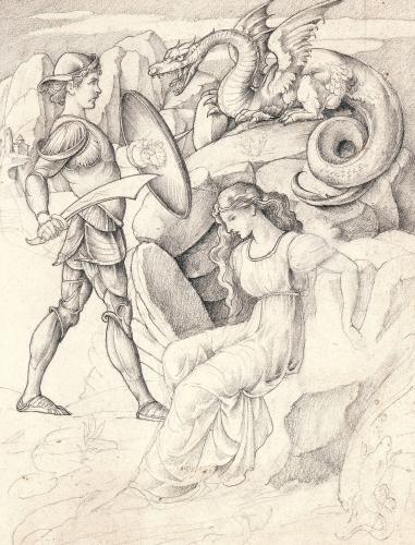 Perseus And Andromeda by William de Morgan