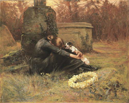 A Comforting Friend In Her Moment Of Grief by Arthur Wardle