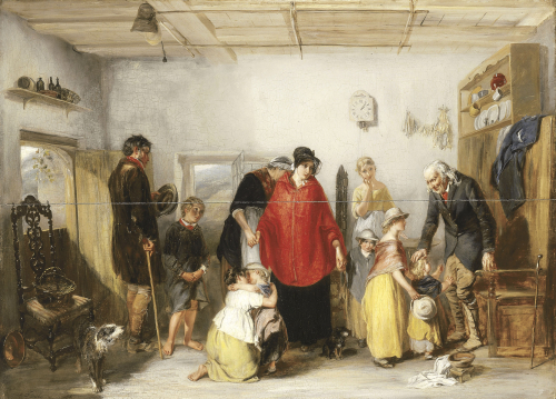 The Emigrant's Departure, 1838 by Paul Falconer Poole