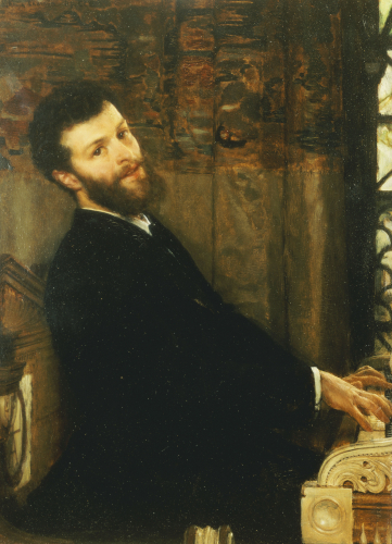 Portrait Of The Singer George Henschel Playing Alma-Tademas Piano, 1879 by Sir Lawrence Alma-Tadema