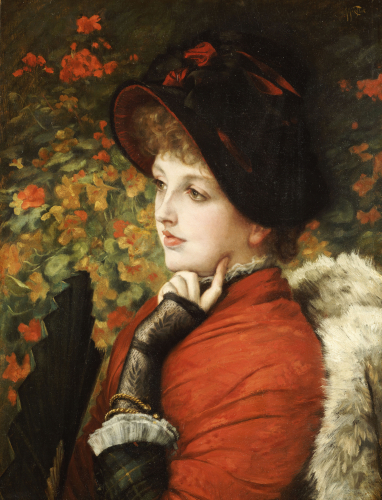 Type Of Beauty: Portrait Of Mrs. Kathleen Newton, 1880 by James Jacques Joseph Tissot