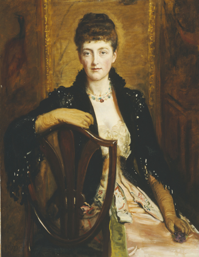 Portrait Of Alice Sophia Caroline Wortley, The Artists Third Daughter by Sir John Everett Millais