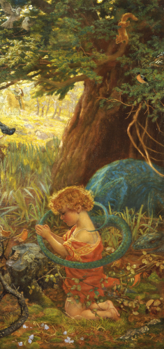 The Rescue, c.1890 by Arthur Hughes