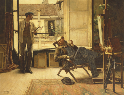 The Neighbours, 1881 by William Bartlett