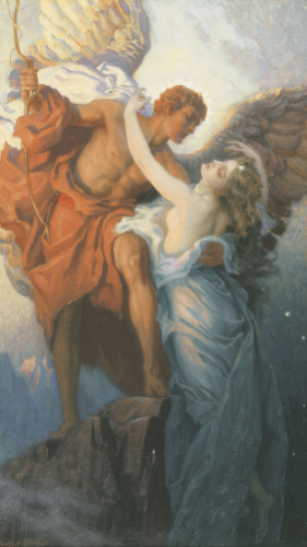 Day And The Dawnstar by Herbert James Draper
