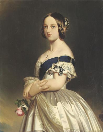 Queen Victoria 1842 (Detail) by Franz Xavier Winterhalter