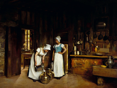 Two Milkmaids by Franck Antoine Bail