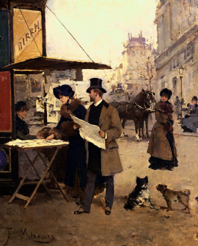 The Afternoon Stroll by Francisco Miralles Y Galup