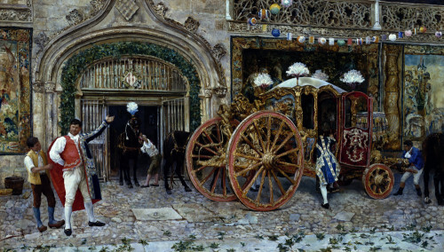 Preparations For A Royal Outing by Manuel Prieto