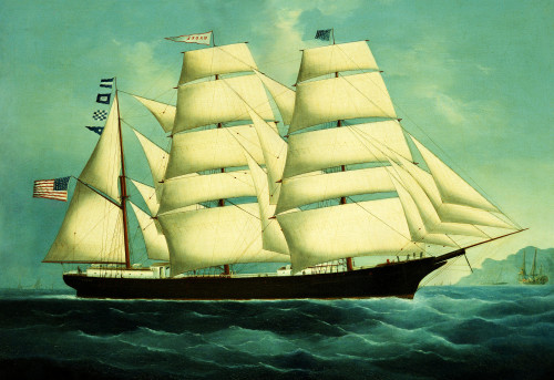 The American Clipper 'Mabel' by Chinese School
