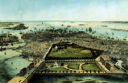 A Bird's Eye View Of Boston by John Bachman