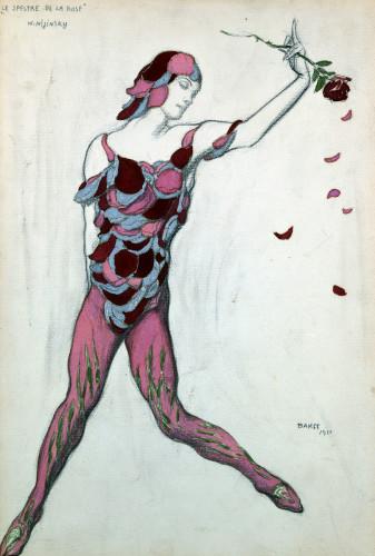 Le Spectre De La Rose, Design For Njinksky's Costume by Leon Bakst