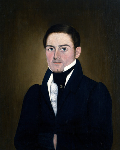 Portrait Of A Sea Captain: James Reed Of Newburyport, Massachusetts by John Brewster