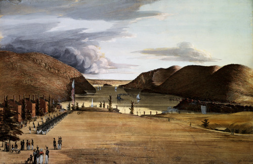 West Point With A View Of The Hudson River by George Catlin