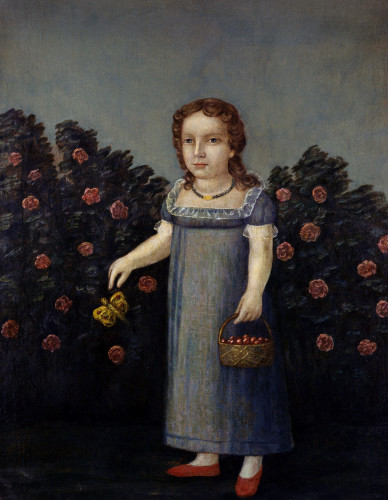 Portrait Of A Young Girl by Joshua Johnson