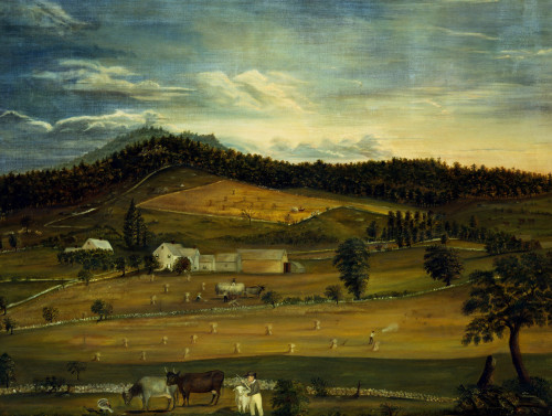 An American Farm: Summer View From The West by American School
