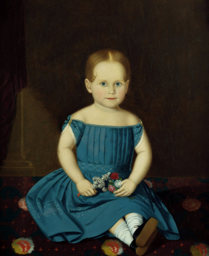 Portrait Of A Little Girl by American School